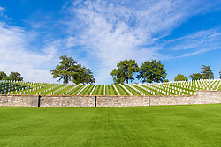 Jefferson Barracks, one of the National Cemetery Administrations oldest interment sites, has served as a burial place soldiers from all wars. The original military post was built south of St. Louis, Mo., on the banks of the Mississippi River to replace Fort Bellefontaine. Selected for its strategic geographic location, the post was opened in 1826. Jefferson Barracks became the army's first permanent base west of the Mississippi River. By the 1840s, it was the largest military establishment in the United States. During the Civil War, Jefferson Barracks served as a training post for the Union Army. There was also a hospital at the post for the Union army's sick and wounded.