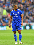 Lee Peltier (2) of Cardiff City during the Premier League match between Cardiff City and Chelsea at the Cardiff City Stadium, Cardiff, Wales on 31 March 2019.
