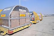 Israel, Ben-Gurion international Airport Yellow DHL cargo plane