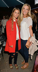 PICTURE SHOWS:-Left to right, IRENE FORTE and CHELSY DAVY.<br /> Tuesday 14th April 2015 saw a host of London influencers and VIP faces gather together to celebrate the launch of The Ivy Chelsea Garden. Live entertainment was provided by jazz-trio The Blind Tigers, whilst guests enjoyed Moët & Chandon Champagne, alongside a series of delicious canapés created by the restaurant's Executive Chef, Sean Burbidge.<br /> The evening showcased The Ivy Chelsea Garden to two hundred VIPs and Chelsea<br /> residents, inviting guests to preview the restaurant and gardens which marry<br /> approachable sophistication and familiar luxury with an underlying feeling of glamour and theatre. The Ivy Chelsea Garden's interiors have been designed by Martin Brudnizki Design Studio, and cleverly combine vintage with luxury, resulting in a space that is both alluring and down-to-earth.