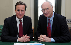 Leader of the Conservative Party David Cameron with Sir George Young, Member of Parliament for North West Hampshire in his office in Norman Shaw South, January 5, 2010. Photo By Andrew Parsons / i-Images.