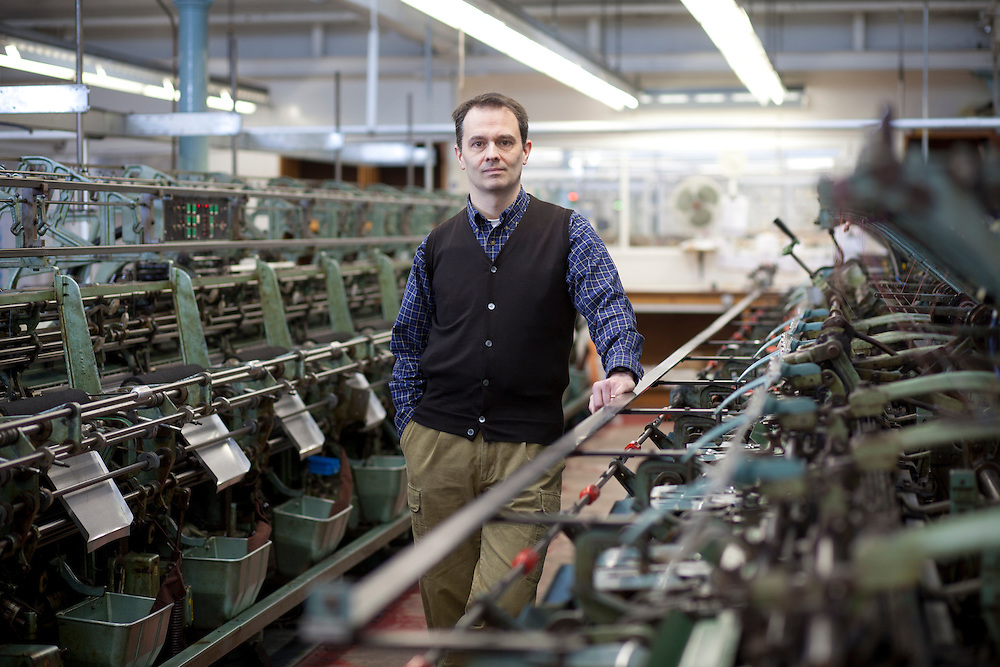 20/02/13 John Smedley Ltd, Matlock - corporate portraits of Ian MacLean CEO