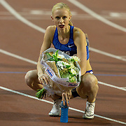 Sage Watson (Canada) winner of the Women's 400m Hurdles during the IAAF Diamond League event at the King Baudouin Stadium, Brussels, Belgium on 6 September 2019.