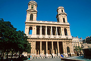 FRANCE, PARIS, ST GERMAIN St. Sulpice, constructed over 134 years finished in early 1800's in dramatic neo-classical style
