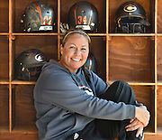 Mara Lavitt -- Special to the Hartford Courant<br /> May 14, 2015 Cheshire High School<br /> Cheshire High School's softball coach Kristine Drust.