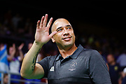 Head Coach Paul Henare of New Zealand reacts after winning the Men's Bronze Medal Game between the New Zealand Tall Blacks and Scotland. Gold Coast 2018 Commonwealth Games, Basketball, Gold Coast Convention & Exhibition Centre, Gold Coast, Australia. 15 April 2018 © Copyright Photo: Anthony Au-Yeung / www.photosport.nz