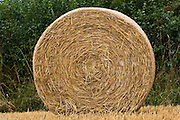 Straw bale, Cotswolds in Oxfordshire, United Kingdom