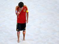 FIFA BEACH SOCCER WORLD CUP 2008 ITALY - SPAIN  26.07.2008 AMARELLE (ESP) dejected.