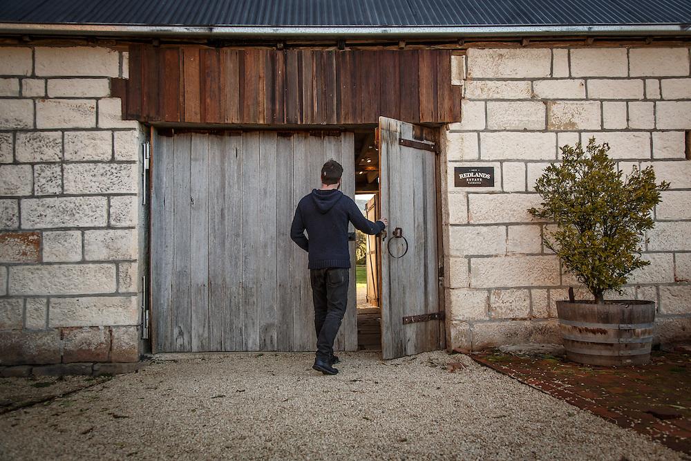 The entrance at Redlands Estate Distillery in Plenty, Tasmania, August 25, 2015. Gary He/DRAMBOX MEDIA LIBRARY
