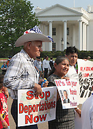 A rally in LaFayette Park on Immigration reform Photograph by Dennis Brack