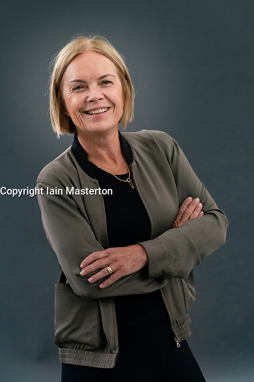 Edinburgh, Scotland, UK. 21 August 2019. Mariella Frostrup at Edinburgh International Book Festival. Mariella Frostrup's new book Wild Women collects the tales of well-known and undiscovered women from around the world and across the centuries, taking in journeys from Antarctica to the Andes. at Edinburgh International Book Festival 2019.  Iain Masterton/Alamy Live News.