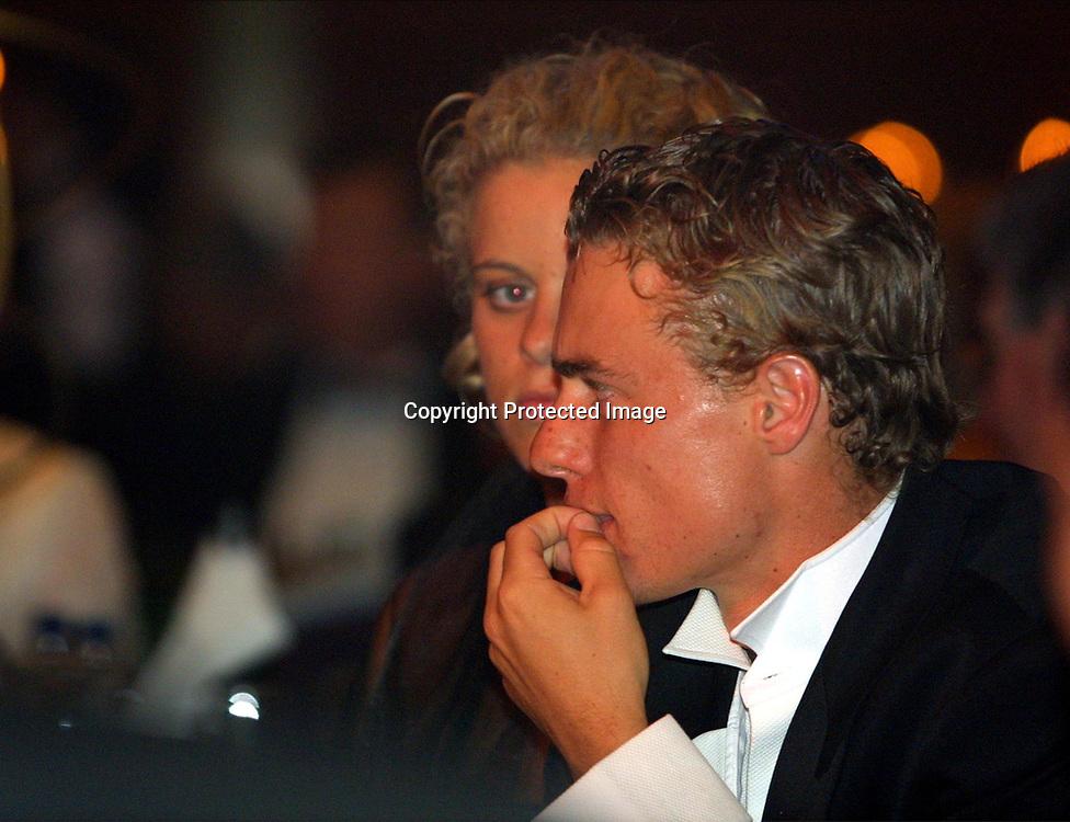 Sport,Tennis,Hopman Cup in Perth,Australien,Mixed<br /> Doubles WM, Lleyton Hewitt und Freundin Kim Clijsters beim Silvester Ball, 31.12.2001.<br /> Foto:Juergen Hasenkopf