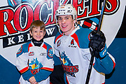 KELOWNA, CANADA - MARCH 13: Pepsi Player of the Game with Nolan Foote #29 of the Kelowna Rockets at the Kelowna Rockets game on March 13, 2019 at Prospera Place in Kelowna, British Columbia, Canada. (Photo By Cindy Rogers/Nyasa Photography, *** Local Caption ***