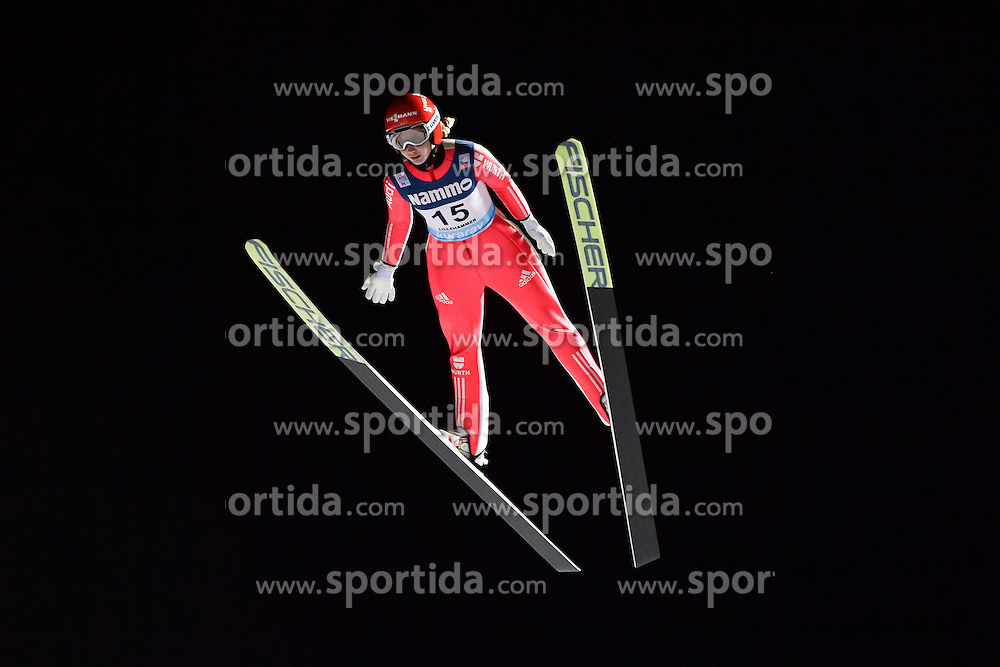 02.12.2016, Lillehammer, NOR, FIS Weltcup Ski Sprung, Lillehammer, Damen, im Bild Svenja Wuerth (GER) // Svenja Wuerth of Germany during Womens Skijumping Competition of FIS Skijumping World Cup. Lillehammer, Norway on 2016/12/02. EXPA Pictures &copy; 2016, PhotoCredit: EXPA/ Nisse<br /> <br /> *****ATTENTION - OUT of SWE*****