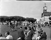 02/08/1960<br /> 08/02/1960<br /> 02 August 1960<br /> R.D.S Horse Show Dublin (Tuesday). General view of one of the many Judging rings at the Dublin Horse Show.