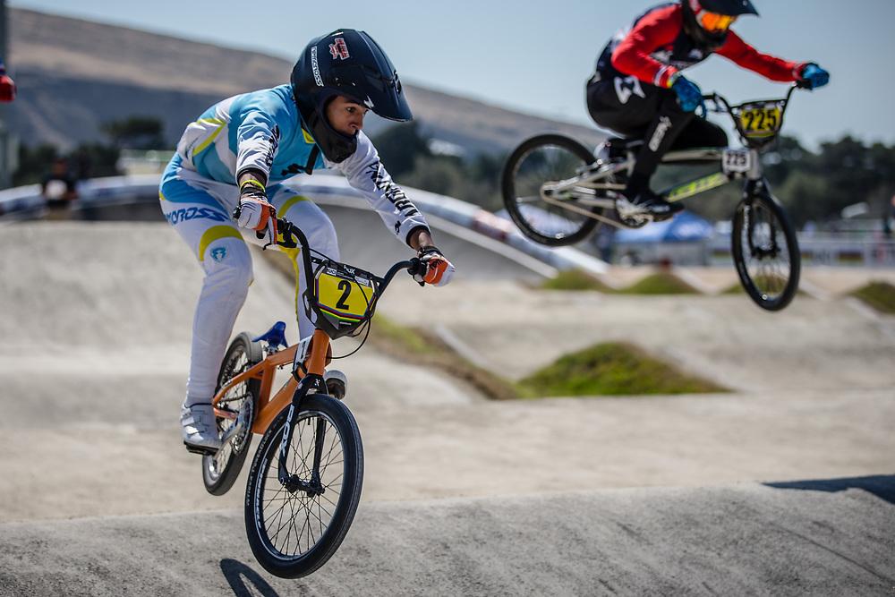 16 Boys #2 (MATURANO Franco) ARG at the 2018 UCI BMX World Championships in Baku, Azerbaijan.