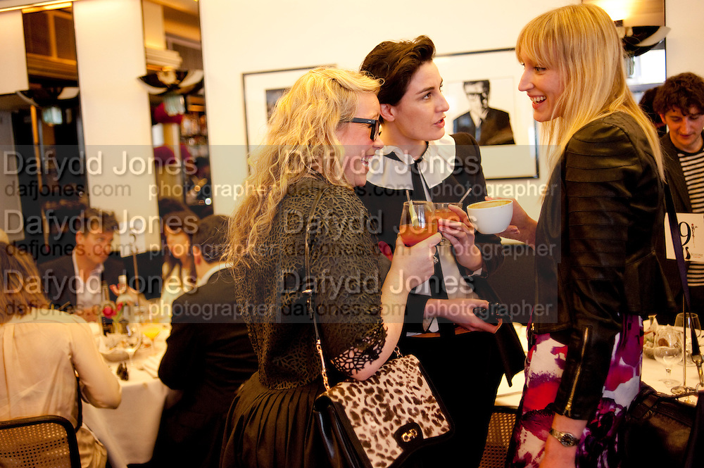 KATE HALFPENNY; ERIN O'CONNOR; JADE PARFITT, The launch of the Belvedere Bloody Mary Brunch to London's Caprice. Le Caprice. Arlington st. London. 7 April 2011.  -DO NOT ARCHIVE-© Copyright Photograph by Dafydd Jones. 248 Clapham Rd. London SW9 0PZ. Tel 0207 820 0771. www.dafjones.com.