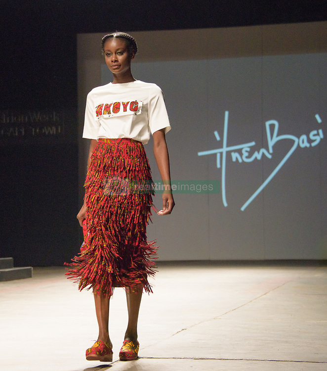 #MBFWCT17 Ituen Basi Collection. Mercedes Benz Fashion Week, Cape Town, 2017. Photo by Alec Smith/imagemundi.com