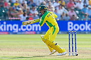 Usman Khawaja of Australia batting during the ICC Cricket World Cup 2019 match between Afghanistan and Australia at the Bristol County Ground, Bristol, United Kingdom on 1 June 2019.