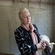 Valentina, president of Children- Chernobyl Invalids, visiting her abandoned house in Pripyat