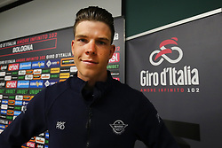 Foto Filippo Rubin/LaPresse <br /> 09 maggio 2019 Bologna (Italia)<br /> Sport Ciclismo<br /> Giro d'Italia 2019 - edizione 102 - Conferenza Stampa Team.<br /> Nella foto: Deceuninck - Quick-Step.JUNGELS Bob<br /> <br /> Photo Filippo Rubin/LaPresse<br /> May 09, 2019  Bologna (Italy)  <br /> Sport Cycling<br /> Giro d'Italia 2019 - 102th edition - Team Press Conference .<br /> In the pic: Deceuninck - Quick-Step.JUNGELS Bob