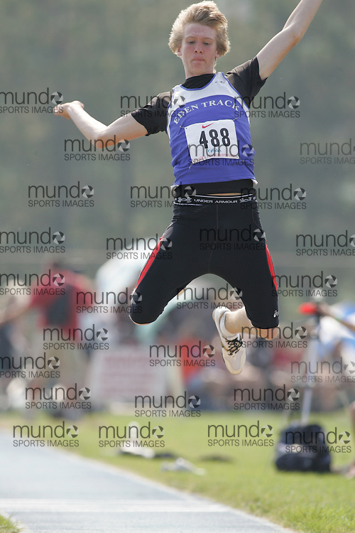 Jeff Webb competing in the midget boys long jump at the 2007 OFSAA Ontario High School Track and Field Championships in Ottawa.