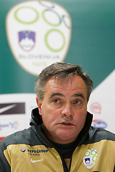 Assistant coach Tomaz Kavcic during press conference of Slovenia National football team at  Hyde Park High School Stadium on June 16, 2010 in Johannesburg, South Africa.  (Photo by Vid Ponikvar / Sportida)