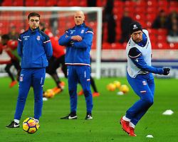 Charlie Adam of Stoke City warms up- Mandatory by-line: Nizaam Jones/JMP - 31/01/2018 - FOOTBALL - Bet365 Stadium - Stoke-on-Trent, England - Stoke City v Watford - Premier League
