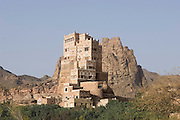 Dar al-Hajar, the residence of Imam Yahya in the Wadi Dhar near San?a?.  Morning.