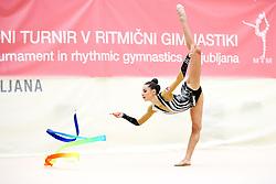 Natela Bolataeva of Georgia competes during 31st MTM - International tournament in rhythmic gymnastics Ljubljana, on April 7, 2018 in Gymnastics center Ljubljana, Ljubljana, Slovenia. Photo by Matic Klansek Velej / Sportida