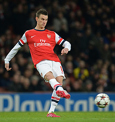 26.11.2013, The Emirates Stadium, London, ENG, UEFA CL, FC Arsenal vs Olympique Marseille, Gruppe F, im Bild Arsenal's Laurent Koscielny // Arsenal's Laurent Koscielny during UEFA Champions League group F match between FC Arsenal and Olympique Marseille at the The Emirates Stadium in London, Great Britain on 2013/11/26. EXPA Pictures © 2013, PhotoCredit: EXPA/ Mitchell Gunn<br /> <br /> *****ATTENTION - OUT of GBR*****