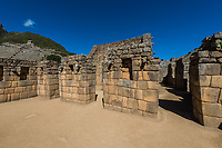Industrial zone Machu Picchu, Incas ruins in the peruvian Andes at Cuzco Peru