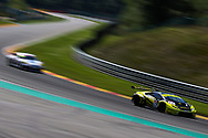 Barwell Motorsport Lamborghini Huracan GT3 with drivers Adrian Amstutz & Patrick Kujala during the British GT Championship at Circuit de Spa-Francorchamps, Stavelot, Belgium on 8 July 2017. Photo by Jurek Biegus.