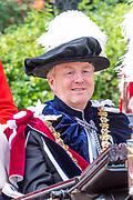 """Koning Willem Alexander wordt door Hare Majesteit Koningin Elizabeth II geïnstalleerd in de 'Most Noble Order of the Garter'. Tijdens een jaarlijkse ceremonie in St. Georgekapel, Windsor Castle, wordt hij geïnstalleerd als 'Supernumerary Knight of the Garter'.<br /> <br /> King Willem Alexander is installed by Her Majesty Queen Elizabeth II in the """"Most Noble Order of the Garter"""". During an annual ceremony in St. George's Chapel, Windsor Castle, he is installed as """"Supernumerary Knight of the Garter"""".<br /> <br /> Op de foto / On the photo:  Koning Willem Alexander / King Willem Alexander"""