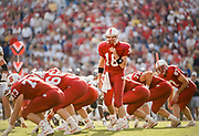 COLLEGE FOOTBALL: Stanford vs Cal in the Big Game played on Nov 20, 1993 at Stanford Stadium in Palo Alto, California. Steve Stenstrom #18 of Stanford.
