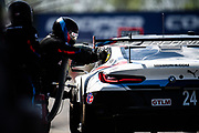 May 5, 2019: IMSA Weathertech Mid Ohio. #24 BMW Team RLL BMW M8 GTE, GTLM: Jesse Krohn, John Edwards, Mozzie Mostert, Alex Zanardi pitstop