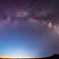 Early twilight in Big Bend with the Milky Way overhead