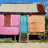 A colorful house in Grace Point, Belize.