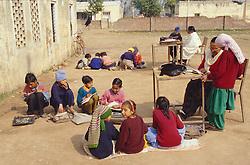 Primary school class in Patiala; Punjab,