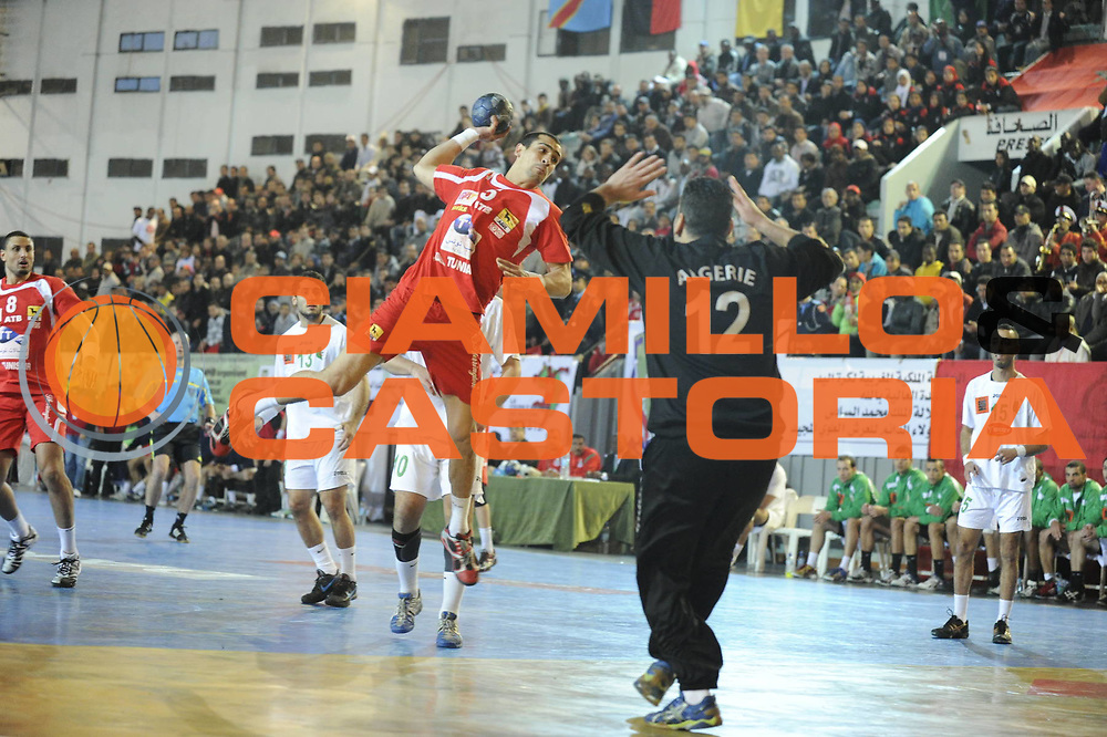 DESCRIZIONE : Hand Coupe Afrique des Nations Homme Maroc Rabat Finale<br /> GIOCATORE : GHARBI Mahmoud<br /> SQUADRA : Tunisie<br /> EVENTO : FRANCE Hand CAN<br /> GARA : Algerie Tunisie<br /> DATA :20/01/2012<br /> CATEGORIA : Hand CAN<br /> SPORT : Handball<br /> AUTORE : JF Molliere <br /> Galleria : France Hand 2011-2012 Action<br /> Fotonotizia : CAN Hand RABAT Maroc Finale<br /> Predefinita :