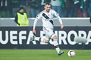 Warsaw, Poland - 2017 February 16: Michal Kucharczyk of Legia Warsaw controls the ball during soccer match Legia Warszawa v Ajax Amsterdam - UEFA Europe League  at Municipal Stadium on February 16, 2017 in Warsaw, Poland.<br /> <br /> Mandatory credit:<br /> Photo by &copy; Adam Nurkiewicz / Mediasport<br /> <br /> Adam Nurkiewicz declares that he has no rights to the image of people at the photographs of his authorship.<br /> <br /> Picture also available in RAW (NEF) or TIFF format on special request.<br /> <br /> Any editorial, commercial or promotional use requires written permission from the author of image.