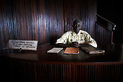 Placide Kamabu, Director of Yangambi Library, pictured in Yangambi, DR Congo, on Tuesday, Dec. 9, 2008. The library contains a large collection of old scientific books, papers and all the annual reports for Yangambi. It has been keep intact by a small skeleton crew who spend lost of their days drying out damp books.