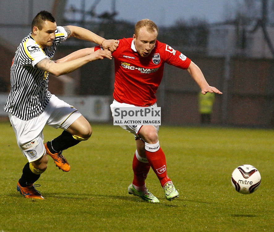 ST.MIRREN v ROSS COUNTY....Liam Boyce  and Viktor Genev in action..(c) STEPHEN LAWSON | SportPix.org.uk