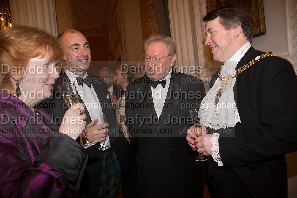 CLARE GIFFORD THE LADY MAYORESS; GEORGE RENOUF; HENRY ANGEST;  THE LORD MAYOR OF LONDON, The National Trust for Scotland Mansion House Dinner. Mansion House, London. 16 October 2013