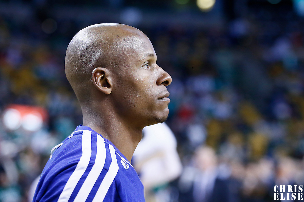 27 January 2013: Miami Heat shooting guard Ray Allen (34) warms up prior to the Boston Celtics 100-98  2OT victory over the Miami Heat at the TD Garden, Boston, Massachusetts, USA.