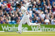 Sri Lanka Dushmantha Chameera   celebrates bowling England & Nottinghamshire bowler Stuart Broad  during day 2 of the first Investec Test Series 2016 match between England and Sri Lanka at Headingley Stadium, Headingley, United Kingdom on 20 May 2016. Photo by Simon Davies.