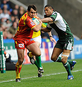 Reading, GREAT BRITAIN, left, David MARTY is tackled by Exiles Delon ARMITAGE, during the Heineken, Quarter Final, Cup rugby match,  London Irish vs Perpignan, at the Madejski Stadium on Sat 05.04.2008 [Photo, Peter Spurrier/Intersport-images].....Watford, GREAT BRITAIN, during the Pool 4 Rd 5  Heineken Cup game Saracens vs Biarittz at Vicarage Road, Hert's  26/04/2007  [Photo, Peter Spurrier/Intersport-images].....