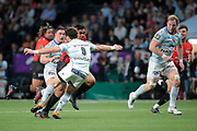 MALAKAI FEKITOA (RC Toulon), Camille CHAT (Racing 92), Maxime MACHENAUD (Racing 92), MATHIEU BASTAREAUD (Rugby Club Toulonnais), Leone Nakarawa (Racing 92) during the French Championship Top 14 Rugby Union match between Racing 92 and RC Toulon on April 8, 2018 at U Arena in Nanterre, France - Photo Stephane Allaman / ProSportsImages / DPPI