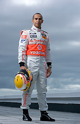 PORTIMAO, PORTUGAL - Wednesday, January 28, 2009: FIA Formula One Champion 2008 Lewis Hamilton (GBR, Vodafone McLaren Mercedes) photographed exclusively during testing at Autodromo Internacional do Algarve. (Mandatory credit: Juergen Tap/Hochzwei/Propaganda)