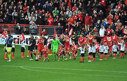 Players emerge from the tunnel at Ashton Gate Stadium for Bristol City v Nottingham Forest - Mandatory by-line: Paul Knight/JMP - 01/10/2016 - FOOTBALL - Ashton Gate Stadium - Bristol, England - Bristol City v Nottingham Forest - Sky Bet Championship